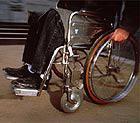 Rollstuhl fahren.